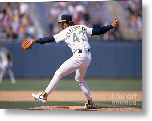 American League Baseball Metal Print featuring the photograph Dennis Eckersley by Otto Greule Jr