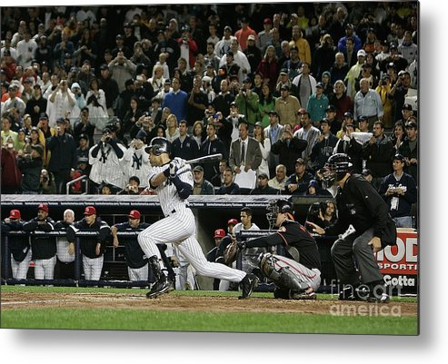 People Metal Print featuring the photograph Derek Jeter by Mike Ehrmann