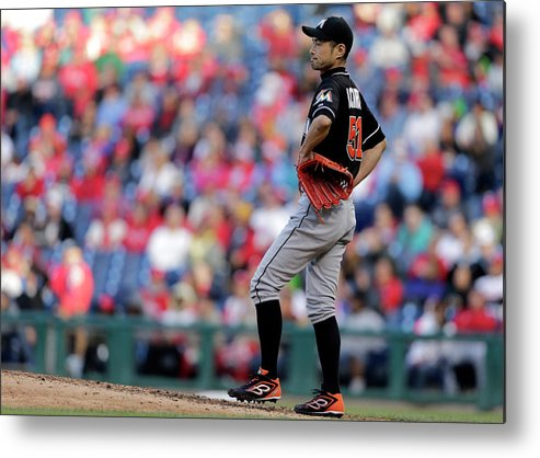 American League Baseball Metal Print featuring the photograph Ichiro Suzuki by Adam Hunger