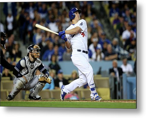 People Metal Print featuring the photograph Joc Pederson by Stephen Dunn