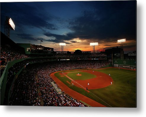 American League Baseball Metal Print featuring the photograph Jon Lester by Jared Wickerham