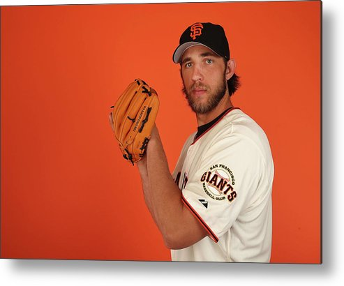 Media Day Metal Print featuring the photograph Madison Bumgarner by Christian Petersen