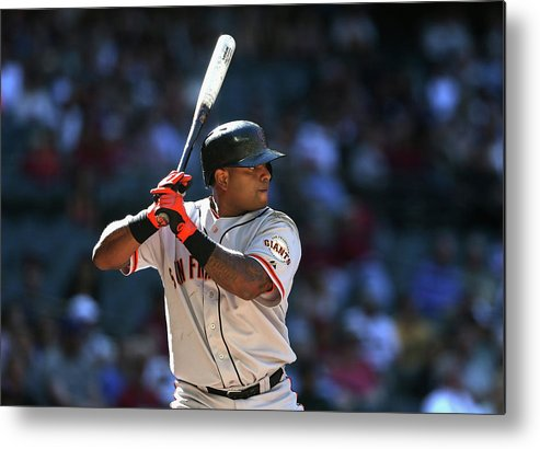 Pablo Sandoval Metal Print featuring the photograph Pablo Sandoval by Christian Petersen