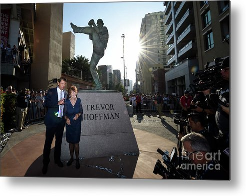 People Metal Print featuring the photograph Trevor Hoffman by Denis Poroy