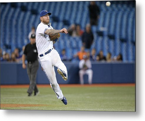 Ninth Inning Metal Print featuring the photograph Jay Rogers by Tom Szczerbowski