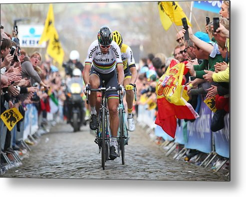 Belgium Metal Print featuring the photograph 100th Tour of Flanders by Bryn Lennon
