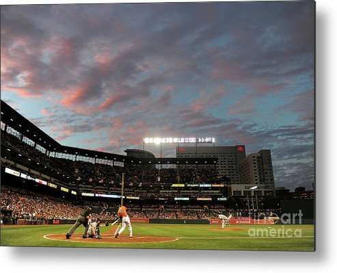 Second Inning Metal Print featuring the photograph Chris Davis by Greg Fiume
