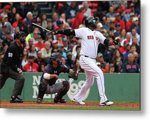 People Metal Print featuring the photograph David Ortiz by Jim Rogash
