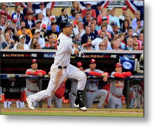 American League Baseball Metal Print featuring the photograph Derek Jeter by Rob Carr