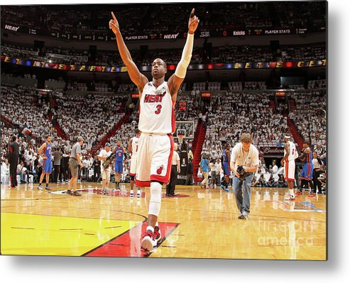 Playoffs Metal Print featuring the photograph Dwyane Wade by Nathaniel S. Butler