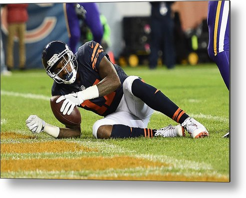 People Metal Print featuring the photograph Minnesota Vikings v Chicago Bears by Stacy Revere