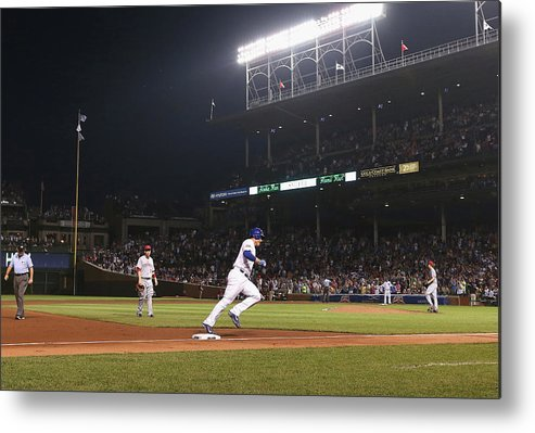 National League Baseball Metal Print featuring the photograph Anthony Rizzo by Jonathan Daniel