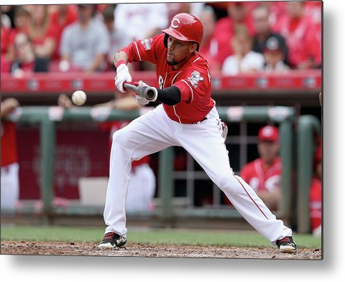 Great American Ball Park Metal Print featuring the photograph Billy Hamilton by Andy Lyons