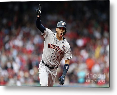 Three Quarter Length Metal Print featuring the photograph Carlos Correa by Elsa