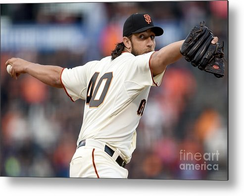 San Francisco Metal Print featuring the photograph Madison Bumgarner by Thearon W. Henderson