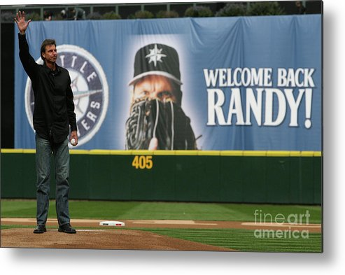 Crowd Metal Print featuring the photograph Randy Johnson by Otto Greule Jr