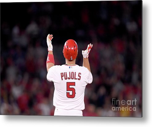 Second Inning Metal Print featuring the photograph Albert Pujols by Harry How