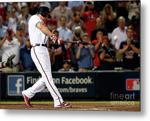 Atlanta Metal Print featuring the photograph Chipper Jones by Kevin C. Cox