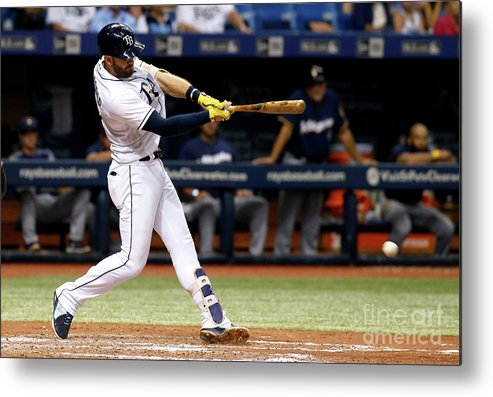 Double Play Metal Print featuring the photograph Evan Longoria by Brian Blanco