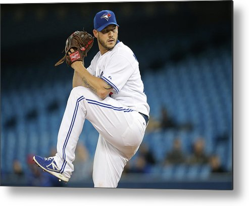 Second Inning Metal Print featuring the photograph Jay Rogers by Tom Szczerbowski