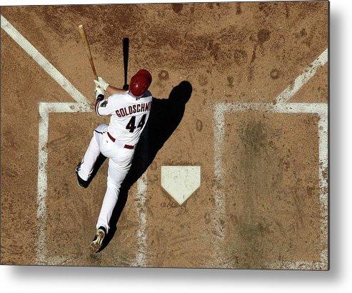 National League Baseball Metal Print featuring the photograph Paul Goldschmidt by Christian Petersen
