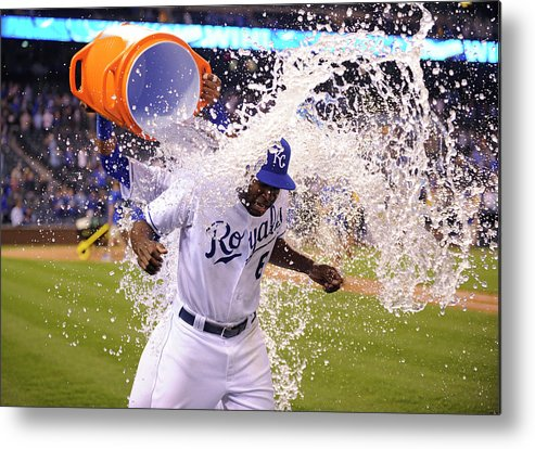 Salvador Perez Diaz Metal Print featuring the photograph Salvador Perez by Ed Zurga