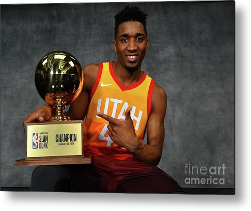 Nba Pro Basketball Metal Print featuring the photograph Donovan Mitchell by Jesse D. Garrabrant