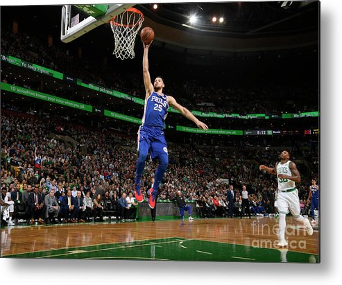 Nba Pro Basketball Metal Print featuring the photograph Ben Simmons by Brian Babineau