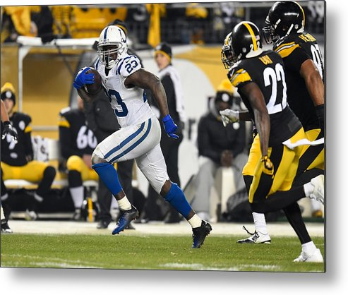 People Metal Print featuring the photograph Indianapolis Colts v Pittsburgh Steelers by Joe Sargent