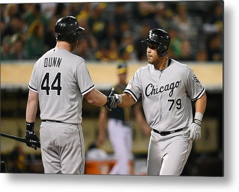 Ninth Inning Metal Print featuring the photograph Adam Dunn by Thearon W. Henderson