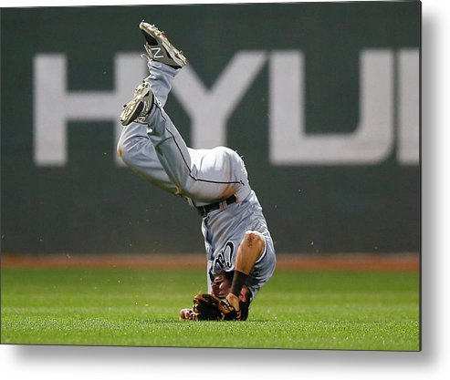 American League Baseball Metal Print featuring the photograph Adam Eaton by Jared Wickerham