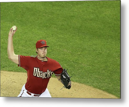 Relief Pitcher Metal Print featuring the photograph Addison Reed by Christian Petersen