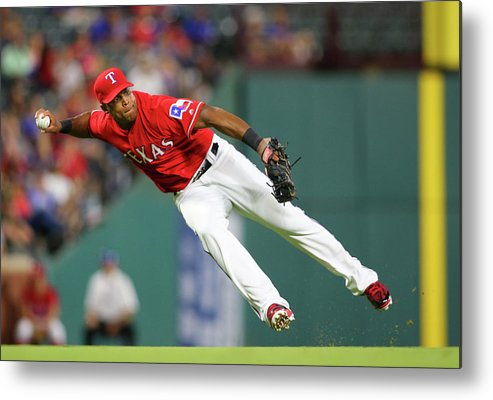 Adrian Beltre Metal Print featuring the photograph Adrian Beltre by Rick Yeatts