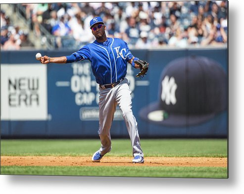 American League Baseball Metal Print featuring the photograph Alcides Escobar by Anthony Causi
