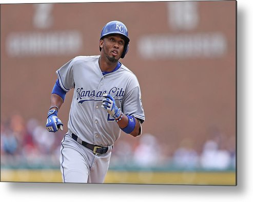 Three Quarter Length Metal Print featuring the photograph Alcides Escobar by Leon Halip