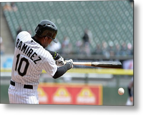 Second Inning Metal Print featuring the photograph Alejandro De Aza and Alexei Ramirez by Brian Kersey