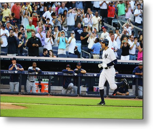People Metal Print featuring the photograph Alex Rodriguez by Al Bello