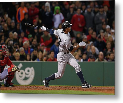 People Metal Print featuring the photograph Alex Rodriguez and Willie Mays by Jim Rogash