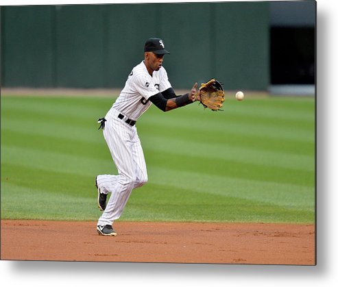 Second Inning Metal Print featuring the photograph Alexei Ramirez by Brian Kersey