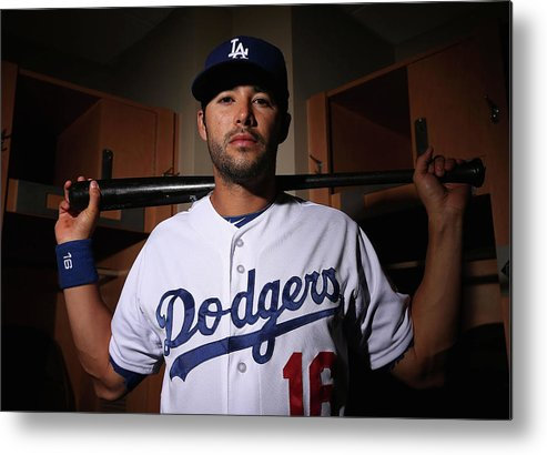 Media Day Metal Print featuring the photograph Andre Ethier by Christian Petersen