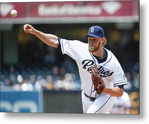 American League Baseball Metal Print featuring the photograph Andrew Cashner by Denis Poroy