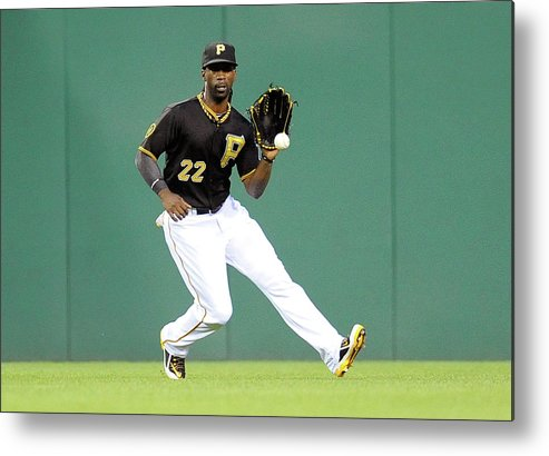 Ball Metal Print featuring the photograph Andrew Mccutchen and Alfredo Simon by Joe Sargent