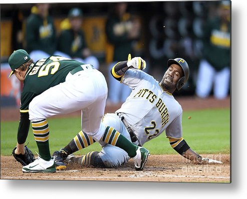 People Metal Print featuring the photograph Andrew Mccutchen and Sonny Gray by Thearon W. Henderson