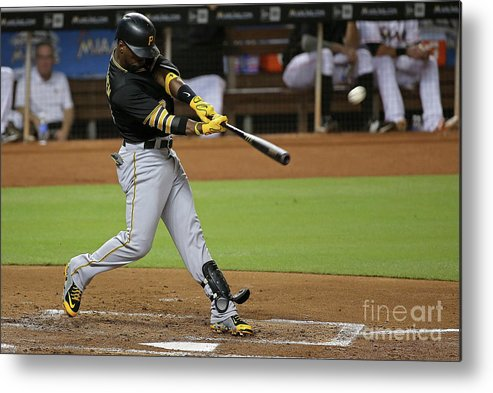 People Metal Print featuring the photograph Andrew Mccutchen by Mike Ehrmann