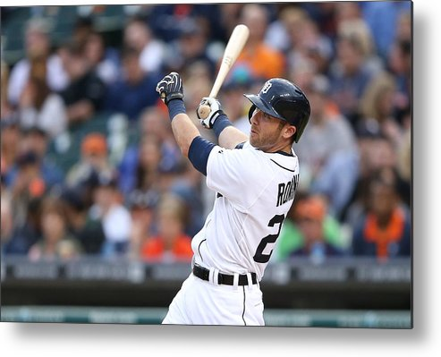 Andrew Romine Metal Print featuring the photograph Andrew Romine by Leon Halip