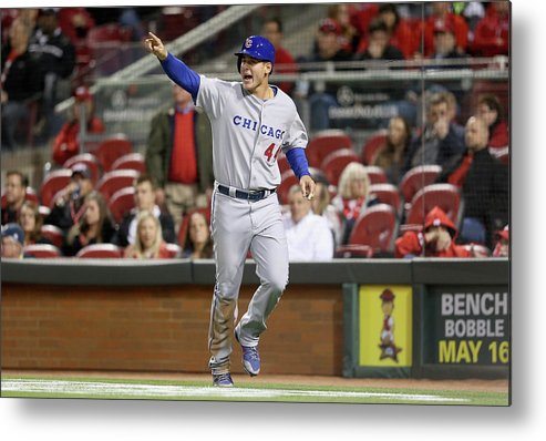 Great American Ball Park Metal Print featuring the photograph Anthony Rizzo by Andy Lyons
