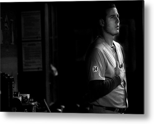 Anthony Rizzo Metal Print featuring the photograph Anthony Rizzo by Mike Ehrmann