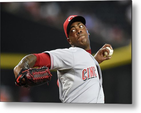 Ninth Inning Metal Print featuring the photograph Aroldis Chapman by Norm Hall