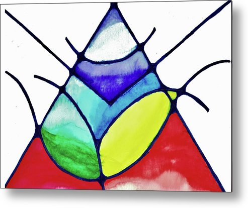Abstract Metal Print featuring the painting Ascension by Della McGee