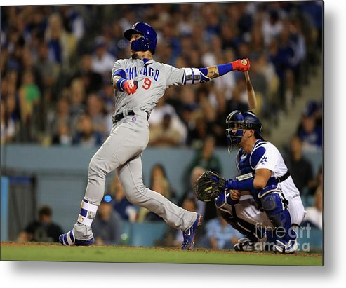 People Metal Print featuring the photograph Austin Barnes and Javier Baez by Sean M. Haffey